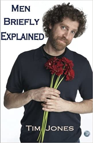 Men Briefly Explained cover with a man holding a bunch of red flowers