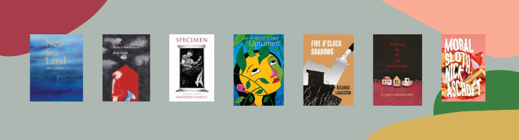 Image shows books by poets taking part in the Southern Writers event