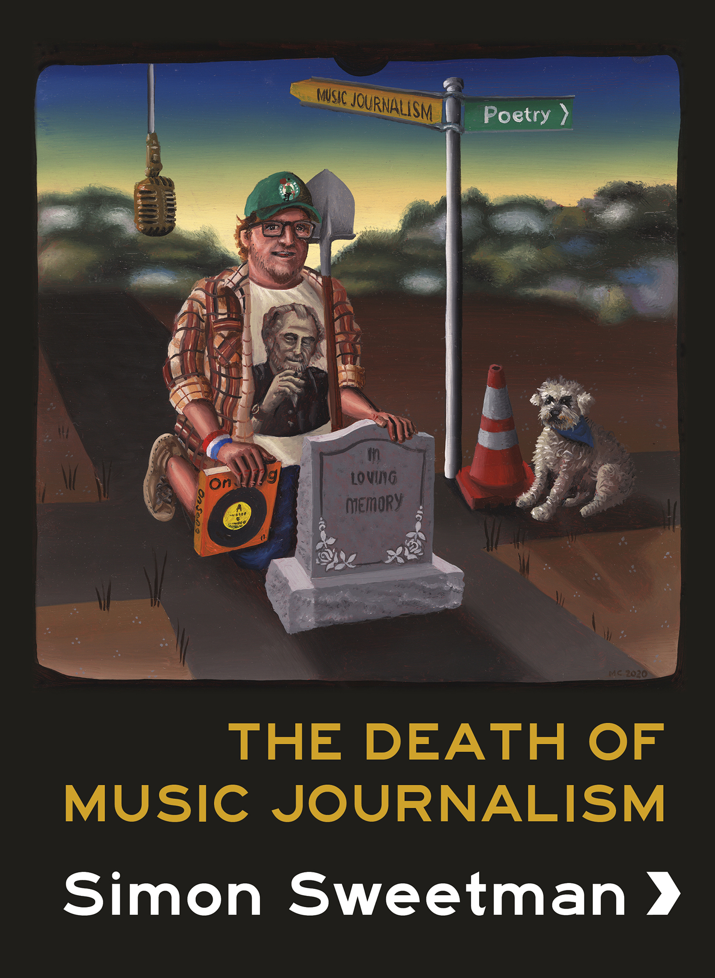 Front cover of The Death of Music Journalism, a poetry collection by Simon Sweetman